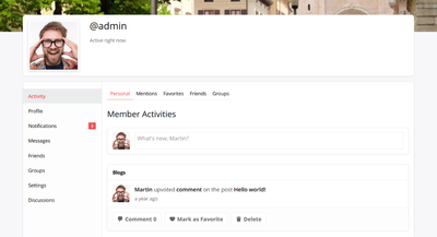 wpDiscuz BuddyPress Integration User Activity Tab