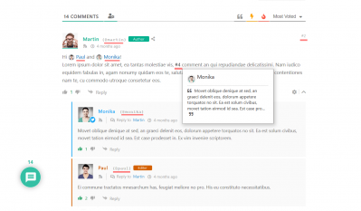 wpDiscuz 7 comment and user mentioning comment layout 2