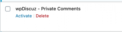 Private comments